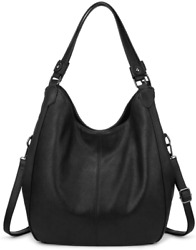 Hobo Bags for Women Faux Leather Shoulder Bag Large Crossbody Bags with 2 Compar $46.99