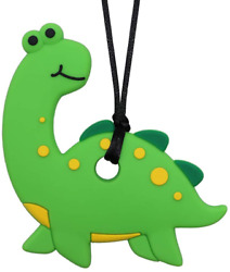 Sensory Chew Necklace Dinosaur for Kids s Boys and Girls Chewable Silicone Nec $11.99