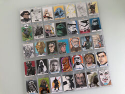 Amazing Star Wars Sketch Card Collection 35 Cards Rare