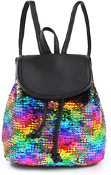 yisi Flip Sequins Mini Backpack Small Backpack Purse for Teen Girls Gift for Sch $20.99
