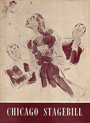 Lerner And Loewe Day Before Spring Irene Manning 1946 Chicago Playbill