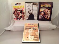 Lot 4 Western Dvds Wagon Train, Bonanza, Westerns, Cain's Cutthroats Pre-owned.