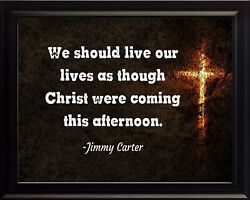 Jimmy Carter We Should Live Poster Print Picture Or Framed Wall Art
