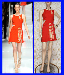 S/s 2011 Look 25 New Versace Red Mini Dress With Greek Pattern 38 - 2