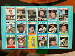 1964 Topps Baseball 104 Cards Pick And Choose Or Buy The Whole Lot. Most Ex-mt