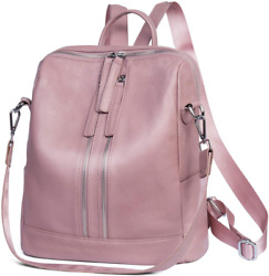 Genuine Leather Backpack Women Shoulder Bag Casual Purse Convertible $50.99