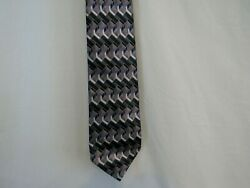 David Taylor Necktie Black and silver geometric Pattern Made in USA  $8.95