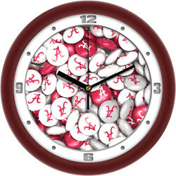 Alabama Crimson Tide Candy Pictured Wall Clock