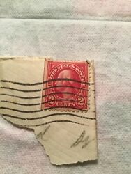 Us Postage Stamp George Washington Two Cent 2andcent Red Stamp Rare