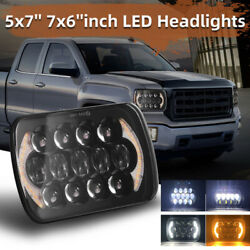 2pcs 5x7and039and039 7x6and039and039 Inch Led Headlights Hi-low Beam Drl For Nissan Pickup Hardbody