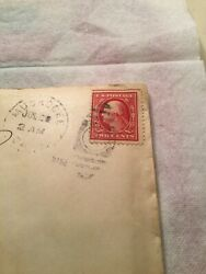 Us Postage Stamp And Letter George Washington Two Cent 2andcent Rare Stamp 1910/1911