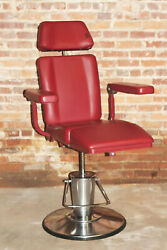 Umf Exam Table Chair 8612 Ent Blood Draw Tattoo Phlebotomy Gyn Barber Salon Red