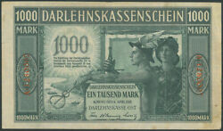Kowno 1000 Mark 1918 Ost Banknote Lithuania Poland S/n A-1280007