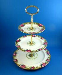 Paragon Tapestry Rose 3 Tier Cake Plate