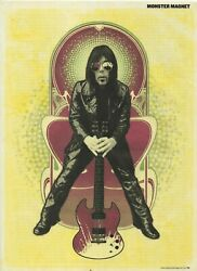 Dave Wyndorf Of Monster Magnet Magazine Clipping/poster 11.5 X 8.5