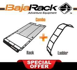 Bajarack Combo Flat Utility Roof Rack Sunroof Cutout And Ladder For Toyota 4runner
