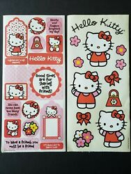 New 2 Sheets SandyLion Hello Kitty Stickers Sanrio Pink Purse Flowers Bow