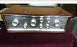 Lux Sq38d Tube Silver Vacuum Tube Amplifier W/ Wooden Cabinet Shipped From Japan