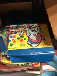 Vintage Children Blowing Water Balloon Toy Store Display Japan New Old Stock