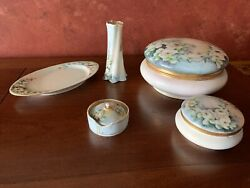 Z.s. And Co. Barvaria Habd Painted Vanity Set 1900andrsquos