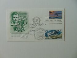Flying Ace Richard S Becker Hand Signed Fdc Dated 1977 Todd Mueller Coa
