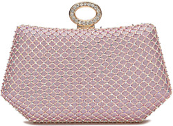 CARIEDO Evening Clutches Bags for Women Bling Glitter Crystal Clutch Beaded Rhin $29.99