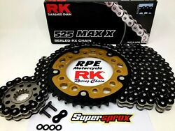 Yamaha R1 2015-20 Rk Max X 525 Rx-ring Racing Chain And Stealth Sprockets Kit