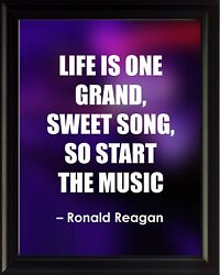 Ronald Reagan Life Is One Poster Print Picture Or Framed Wall Art