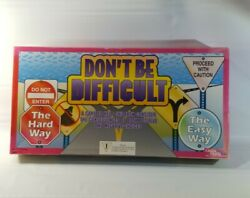 Donand039t Be Difficult 1997 Childs Work Play Board Game Complete Euc