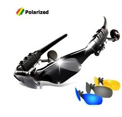 Smart Wireless Bluetooth Outdoor Sports Sunglasses Google With Headphone Earbuds $17.85