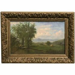 19th C White Mountain School Landscape Oil Painting Possibly Moat Mountain