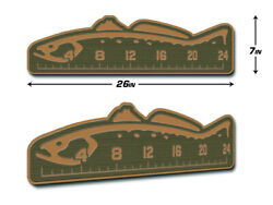 Seadek 24 Trout Fish Ruler Marine Eva 3m Stick On Fly Fishing - Olivegrn/mocha