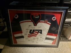 Nike Team Usa 2004 World Cup Of Hockey Team Autographed Jersey With Signatures