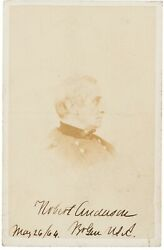 Robert Anderson - Photograph Signed - Defended Fort Sumter At Start Of Civil War