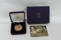 2006 Queen Elizabeth Ii 80th Birthday Gold Andpound5 Proof Crown Coin - 36.613g Of Gold