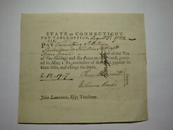 1782 Connecticut Pay Table Office Colonial Currency Note Bill Wadsworth/mosley