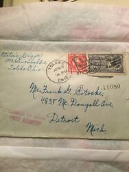 Us George Washington Red Two Cent 2¢ Stamp 10¢ Special Delivery Stamp Cover