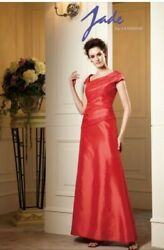 Jade Couturemother Of The Bride/groom Formal Long Dress - Red/pink Size 2
