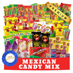 Mexican Candy Assortment Snacks 84 Count Variety Of Spicy Sweet Sour Bulk C