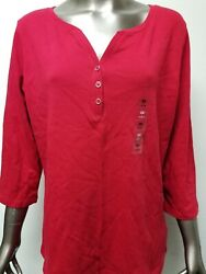 New Womens Karen Scott Plus 34 Sleeve Top.  12 Colors To Choose.