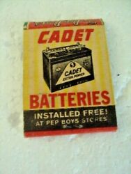 Matchbook Matches  Cadet Batteries Installed Free At Pep Boys Stores