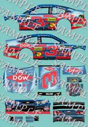 2015 1 64 HO PEEL amp; STICK DECALS #3 AUSTIN DILLON DOW CHEVY DOVER RACE