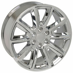 Chrome Wheel 20x8.5 Tahoe Style W/chrome Inserts Fits 02-13 Chevy Avalanche 1500