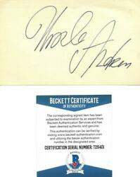 Ursula Andress Signed Authentic Autographed 3x5 Cream Index Card Beckett T29401