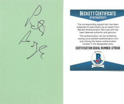 Peter Boyle Signed Authentic Autographed 3x5 Green Index Card Beckett S79592