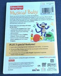 Kids Childrens Toddlers Fisher Price Musical Baby Dvd 2004
