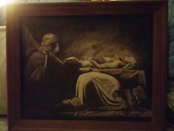 Art Original Oil Painting On Canvas Jesus Is Laid In The Tomb