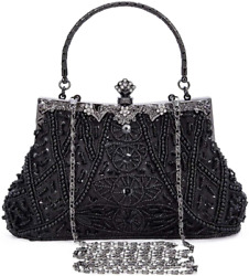 Selighting 1920s Vintage Beaded Clutch Evening Bags for Women Formal Bridal Wedd $38.99