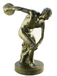 Antique Bronze Of The Discus Thrower - Grand Tour - French - 1870 - H 16andrsquoandrsquo 1/8