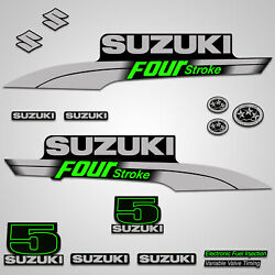 Outboard Engine Graphics Kit Sticker Decal For Suzuki 5 Hp Green